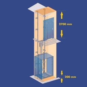barrier free lifts reduced dimensions of pit and headroom