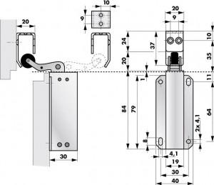 Door Check Junior Dimensions