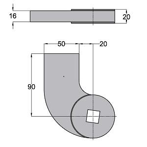 Floor spring WAB 180 accessories dimensions 460088-600