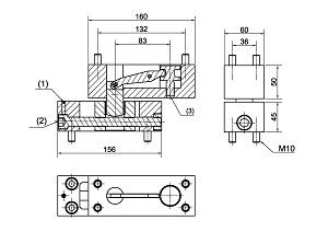 Floor spring WAB 180 accessories dimensions 460091-600
