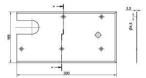 Floor spring WAB 180 accessories dimensions