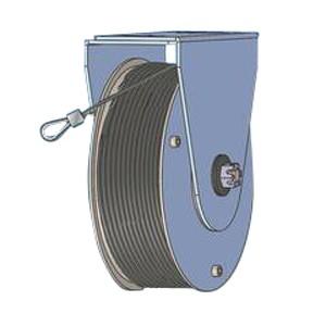 Schiebetür Federseilrolle Durchmesser 177