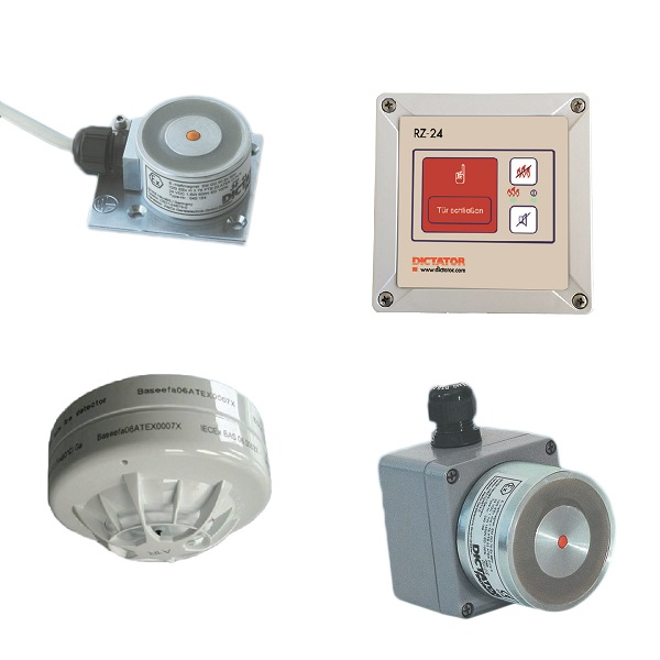 ATEX Hold-open system components