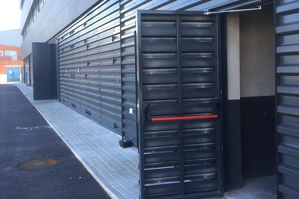 Exterior door with back check