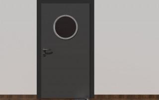 Floor spring WAB 180 on metal door