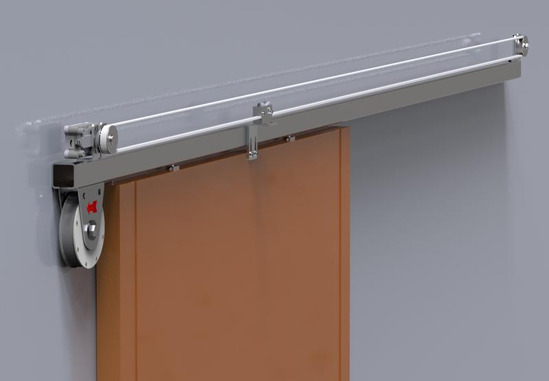 DICTAMAT 50 BK - Sliding door closer in flexible modular system on