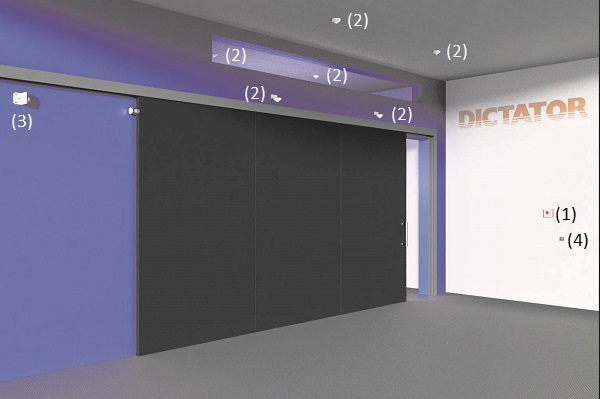 Hold-open system with large sliding door