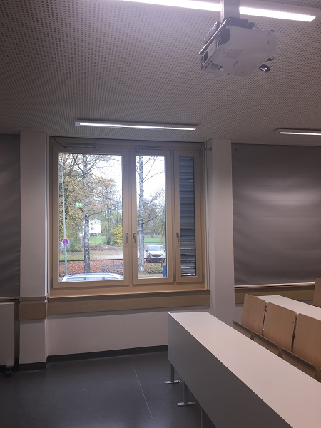 Back check prevents damages on classroom windows