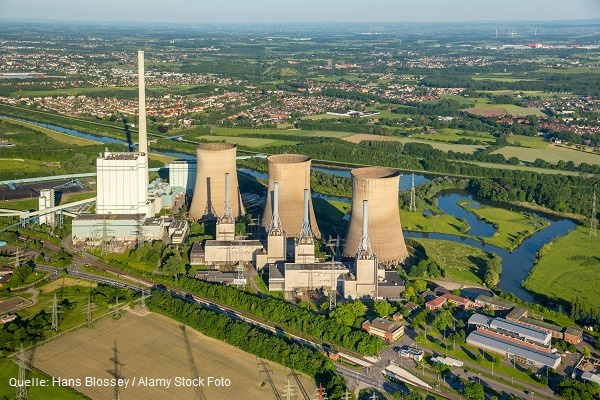 Coal-fired power station, cooling tower