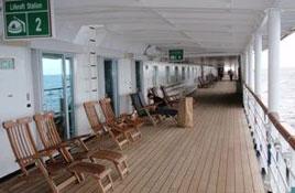 Automatic sliding doors on cruise ship