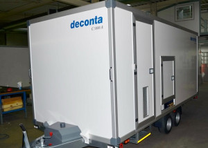 Piccolo closing spring on decontamination unit