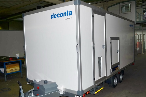 Piccolo closing spring on decontamination unit