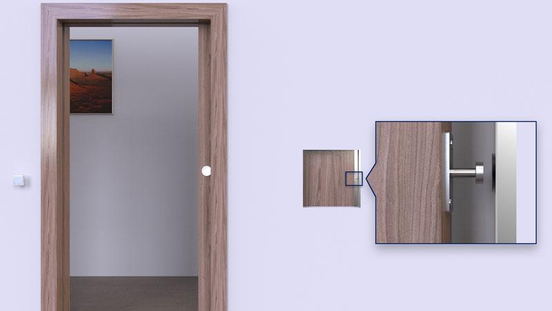 Release Buffer Sliding Pocket Doors