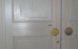 Door damper R 1400 gold entrance door