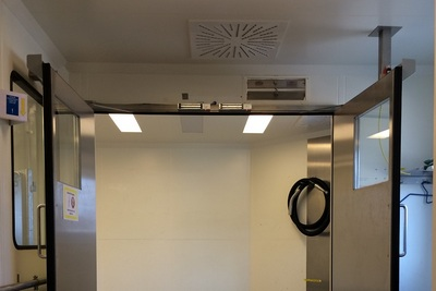 Interlock doors - open