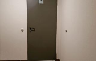 Door damper V 1600F fire-protection door basement