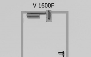Door damper V 1600F for fire doors