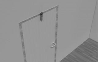 Door damper Z 1000 flush door