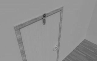 Door damper Z 1000 recessed door