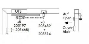 Türöffnungsbegrenzer Montage mit Obentürschließer