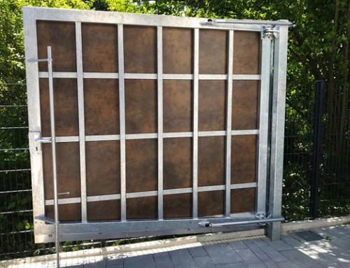 Hinged gates – safe and accident-free closing also in difficult circumstances