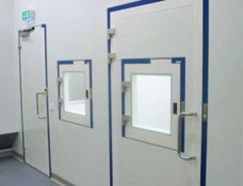 Interlocks in clean room systems for safe processes