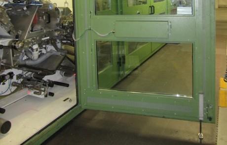 door holder securely keeps the large access doors open