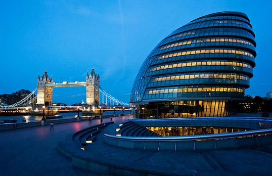 custom gas spring, gas springs. Customized solution for the windows of the London City Hall,